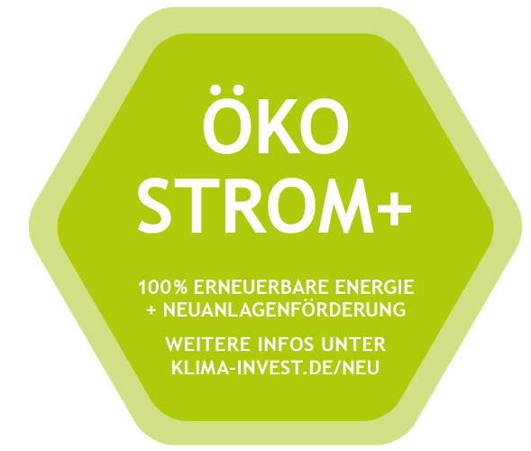 Siegel Ökostrom Plus